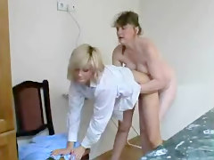 Mature Lesbian Molests Younger Girl