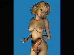 Cartoon Dicky Girls Compilation