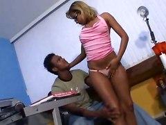Office Sex With Ebony Prick