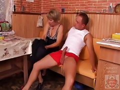 Mature Mother And The Son Have A Good Time On Kitchen