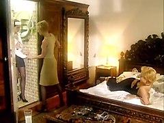 Sinful Lesbian Chicks Michelle Wild, Loureen Kiss, Melinda Pleasure Each Other
