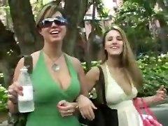 Lesbos Caught Masturbating In Public