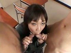 Double Pleasure For Japanese Schoolgirl