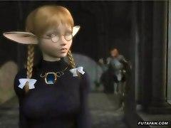 She-boy Elf Is Seduced By An Older Woman
