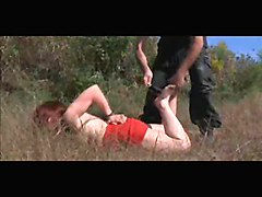 Outdoor Slave Bondage And Anal