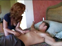 Sexy Red Head With Hubby