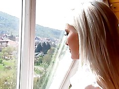 Czech Blonde Gangbanged