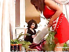 Lesbian Madame Assfucking Her Maid
