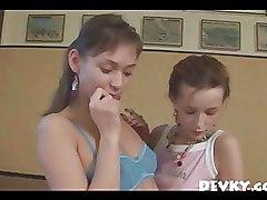 Beautifully Skinny Teen Lesbian Girlfriends