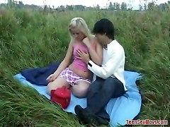 Outdoors Teen Couple