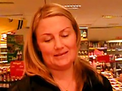 Sexy Scandinavian Babe Flashing In A Store