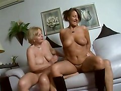 Two Older German Gal Gets Pounded On Couch
