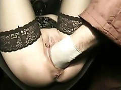 Hot Slave With Her Legs Spread Gets Her Wet Pussy Fucked By Guy With His Hands And Hit With Whip
