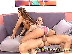Sexy Teen Booty Shakes On Big Cock With Panties On