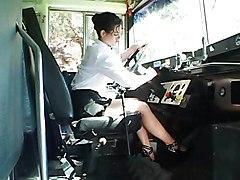 Sexy Bus Driver Seducing School Boy