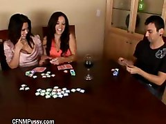 Strip Poker Turns Into Threesome