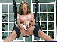 Hot Amateur Sex Swing Dildo Self Fucking
