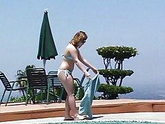 69 Lesbians By Pool
