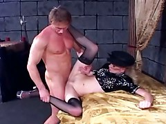 Anal Sex In Fishnet Stockings And Latex Lingerie