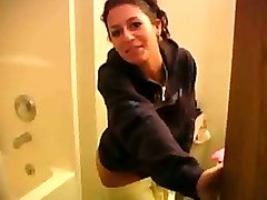 Bathroom Babe Gives Her Man An Intense Pov Blowjob