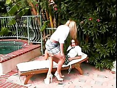 Busty Lesbians Licking And Toying At The Pool