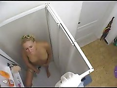 My Blond Nice Sister Cumming In Shower  Hidden Cam