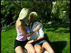 Lesbian Pleasures In Free Nature