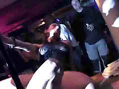 3 Girls Going Crazy In French Nightclub (strip)