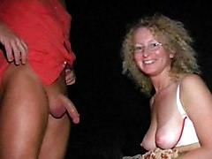 Nice Mature Curly Blonde Slut Sucking Biggest Dick