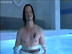 Nude Celeb Charlize Theron Talking Topless In The Pool