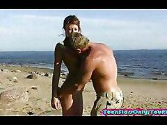 Hottie Banged On The Beach