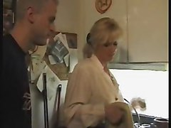 Pantyhosed Mom Cooks Dinner For Son & Friend