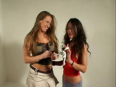 2 Girls Measuring A Dick Cfnm