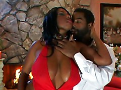Ebony Babe Gets Cum In Her Face