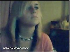 Cute Blonde On Webcam