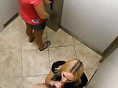 Hidden Cameras Capture Brunette And Blonde Women Fucking