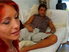 Red Head French Chicks Share A Dick