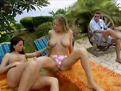 Two Babes Fucked Outdoors