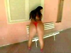 Big Tits Bbw Latina Lingerie Strip Close-up Masturbation