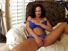Busty Stephanie Fondles Her Pussy