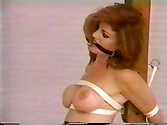 Busty Redhead Bondaged And Tit Tortured