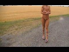 Nude Street Walk