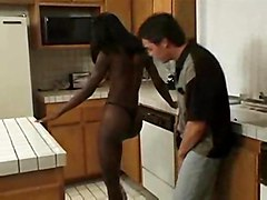 Ebony Teen In The Kitchen