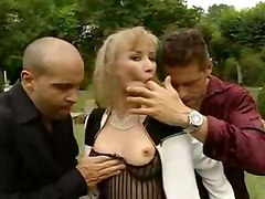Blonde Slut Gets Double The Pleasure