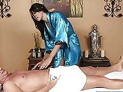 Beautiful Masseuse Lets Her Clients Cum In Her Mouth