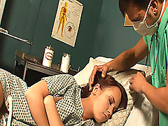 Cutie Falls Alseep At Gynecologist Visit