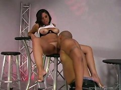 Latina Beauty Rides On Dick!