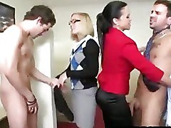 Cock Hungry Office Girls Strip Guys