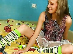 Blonde Nubile Gets Her Body Explored