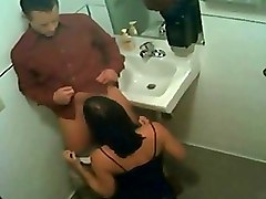 Nightclub Spycam Toilet Blowjob